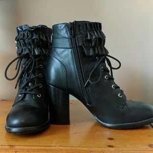 Betsey Johnson Shoes - Betsey Johnson Alleexis black lace up boots